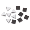 Metallic Magnets, Magnetic, Black; Silver, 12/pack