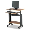 Adjustable Height Workstation, 29-1/2 X 22d X 34h, Cherry/black