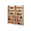 Snap-together Seven-shelf Closed Add-on Unit, Steel, 36w X 12d X 88h, Sand