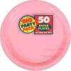 New Pink Paper Plate 300 Per Case Inner Pack 50/pack 6 Packs/c