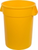 32 Gal Round Trash Can Yellow