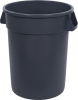 32 Gal Round Trash Can Gray