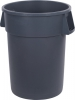44 Gal Round Trash Can Gray