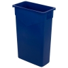 Trimline™ Rectangle Waste Container Trash Can 23 Gallon - Blue