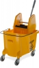 Flo-pac Bucket With Wringer 35 Quart - Yellow