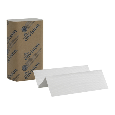 Pacific Blue Basic™ M-fold Recycled (3rd Party) Paper Towel, White, 16/250