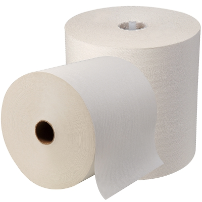 Sofpull® High-capacity Recycled Paper Towel Roll, White