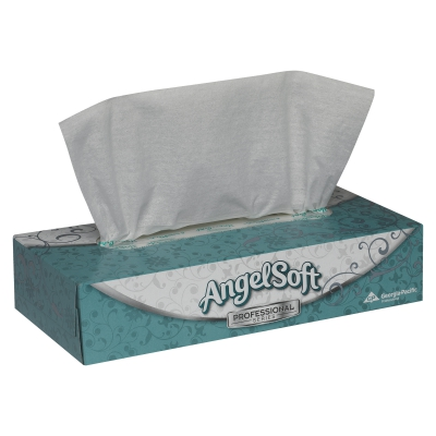 Angel Soft Professional Series® White Premium Facial Tissue, Flat Box, 2-ply