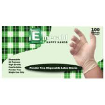 Happy Hands Powder-free Latex Gloves – 4 Mil - Large