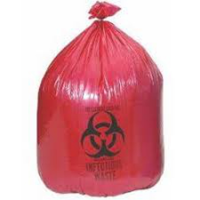 Rollpak Biohazard Lldpe Waste Disposable Bag, Qty 25 Bags, 7-10 Gallon Capaci...