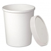 12oz Flexstyle White Paper Container With Lid 250/cs