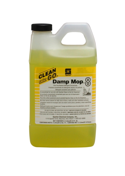 Damp Mop Neutral Cleaner Concentrate 2 Liter 4/case Concentrate For Clean On The Go Dispensing System