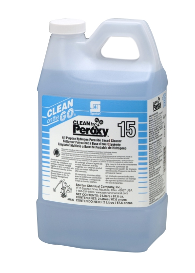 Clean By Peroxy Concentrate 2 Liter 4/cs Hydrogen Peroxide Based Cleaner For Clean On The Go Dispensing System Ph 2.0-3.0