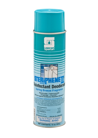 Steriphene Ii Breeze Scent 20 Ounce 12/cs Disinfectant Spray Effective Against Vre Mrsa Hiv-1 Bacterialcidal Fungicidal Virucidal Net Weight 15 Oz Per Can Ph 8.5