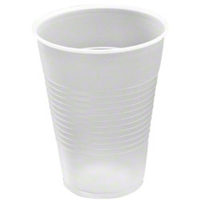 9 Oz Trans Ribbed Wall Ps Cup