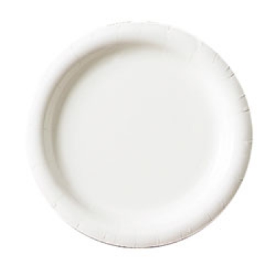 White Paper Plates Uncoated 1200 Per Case