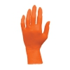 Orange Nitrile Powder Free Exam Gloves Large