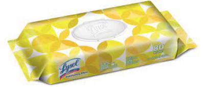 Lysol® Disinfecting Wipes - Lemon & Lime Blossom (flat Pack) 80/pack 6 Packs/case Lemon/lime Blossom