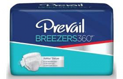 Brief Breezers360 Tab Closure Size 1 Disposable Heavy Absorbency Pvbng-012