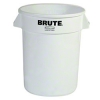 Rubbermaid Commercial Fg263200wht Brute Lldpe Heavy-duty Trash Can Without Lid, 32-gallon, White
