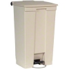 "Rubbermaid Step-on Wastebaskets-step-on Wastebasket,23 Gallon,19-3/4""x16-1/8""x32-1/2"",beige"