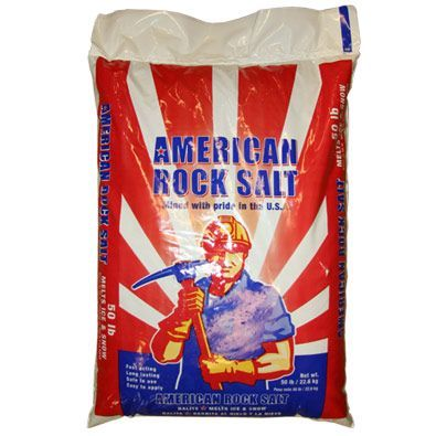 ARS PPSH50 50 POUND BAG ROCK SALT 49 BAGS/SKID AMERICAN ROCK SALT ICE MELTER