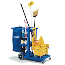 Carlisle Janitorial Cart - Blue