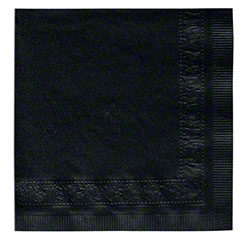 Hoffmaster® Decorator 610 Beverage Napkin -Black (610-D13)