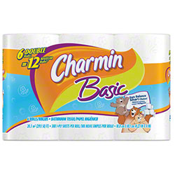 P&G Charmin® Basic Double Roll Bathroom Tissue - 308 Sheet
